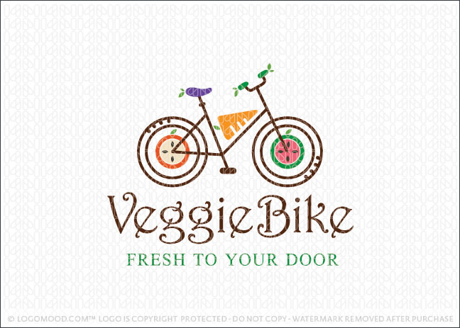 Veggie Bike Logo For Sale