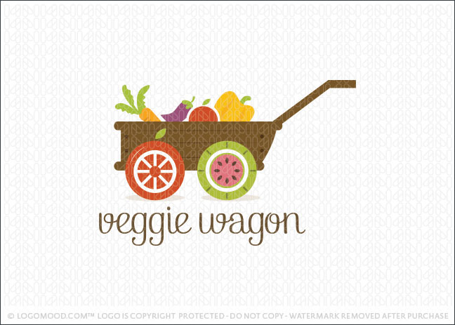 Veggie Wagon Logo For Sale