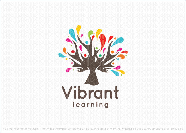 Vibrant Learning People Logo For Sale