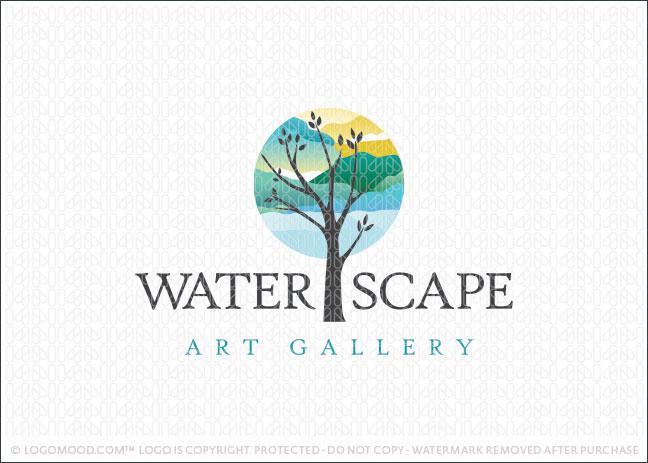 Waterscape Art Tree Gallery Logo For Sale