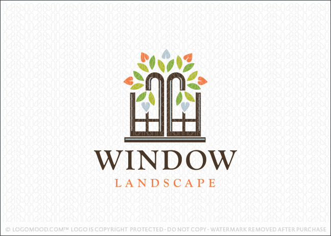 Window Landscape Tree Logo For Sale