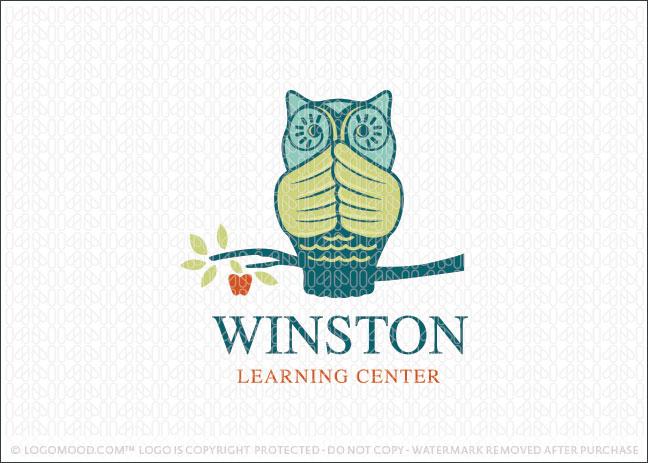 Winston Owl Learning Center Logo For Sale