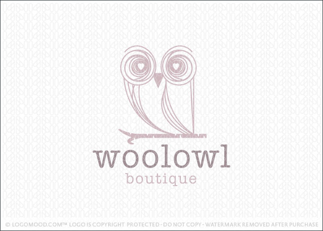 Wool Owl Bird Logo For Sale