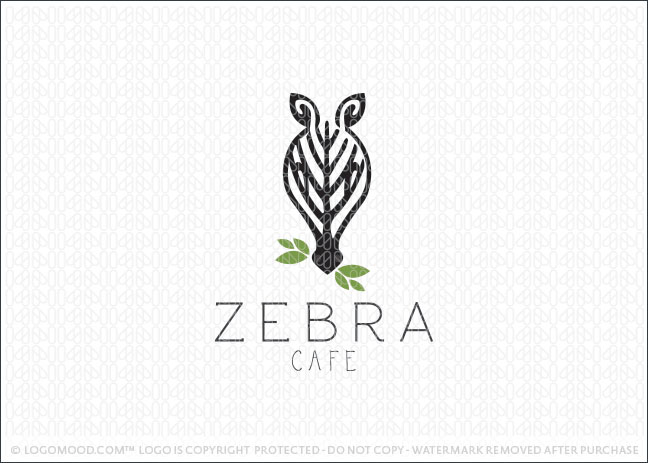 Zebra Cafe Logo For Sale