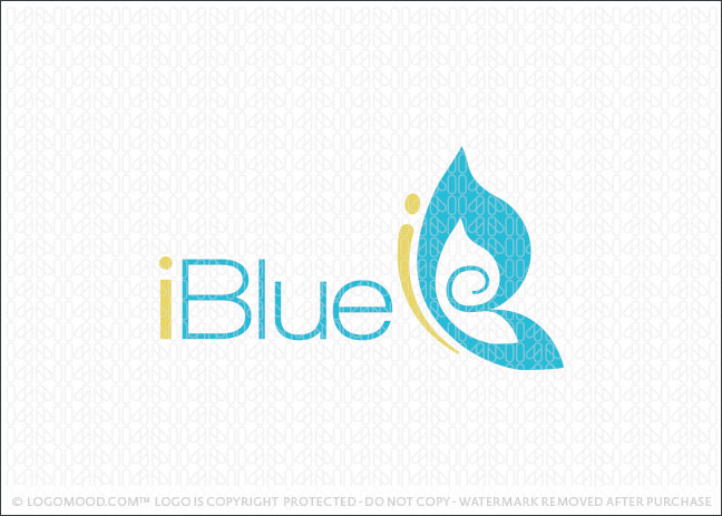 iBlue Butterfly Logo For Sale