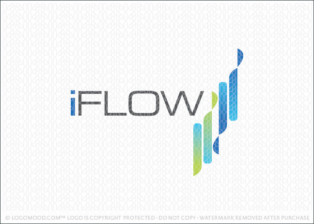iflow Abstract Lines Logo For Sale