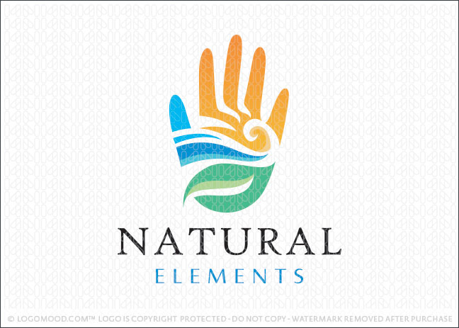 Natural Elements Ready Made Logo For Sale