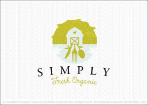 Simply Fresh Organic Logo For Sale