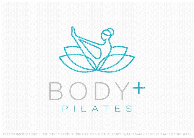 Pilates yoga natural lotus wellness Company Logo For Sale