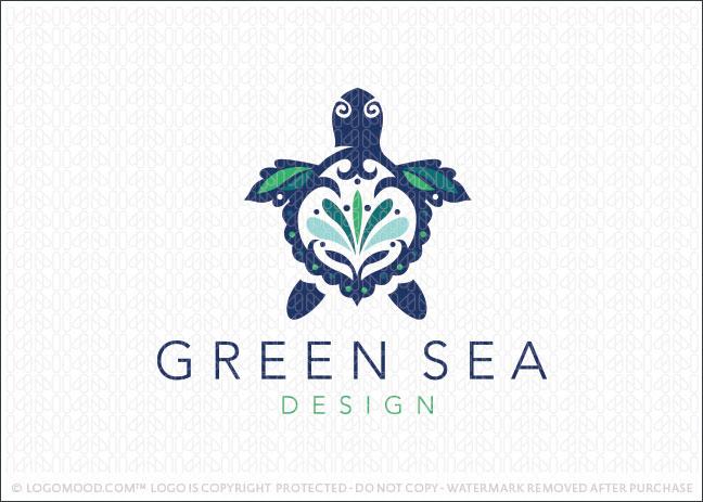 Green Sea Turtle Company Logo for Sale