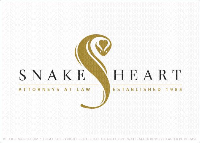 Snake Heart Company Logo For Sale