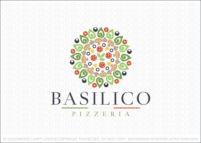 Pizzeria Pizza Business Logo For Sale