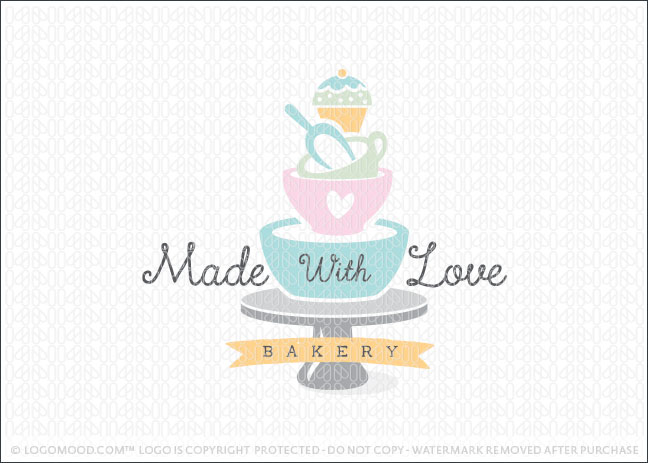 Readymade Logos for Sale Made With Love Bakery | Readymade ...