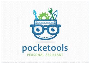 pocket tools nerd logo design for sale