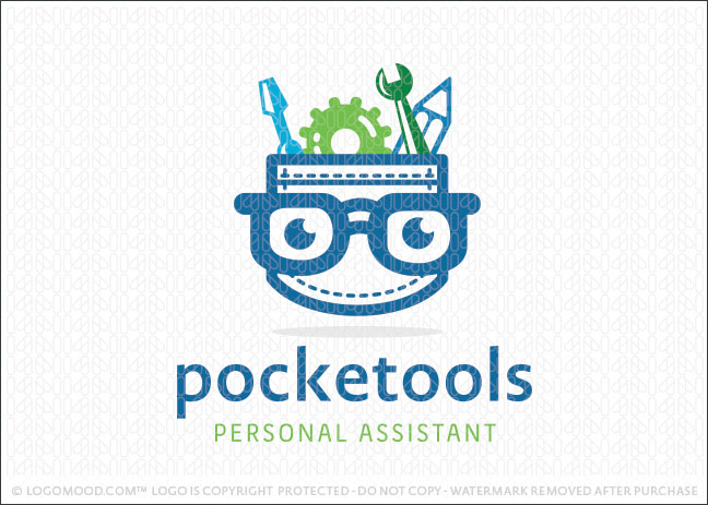 pocket tools nerd logo design for sale
