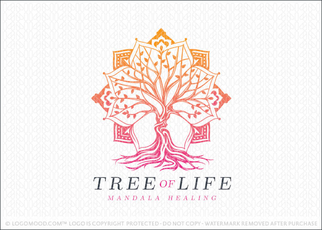 Tree of Life Mandala Logo For Sale