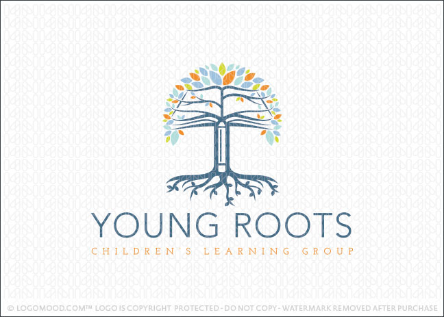 Book Tree Learning Logo for Sale