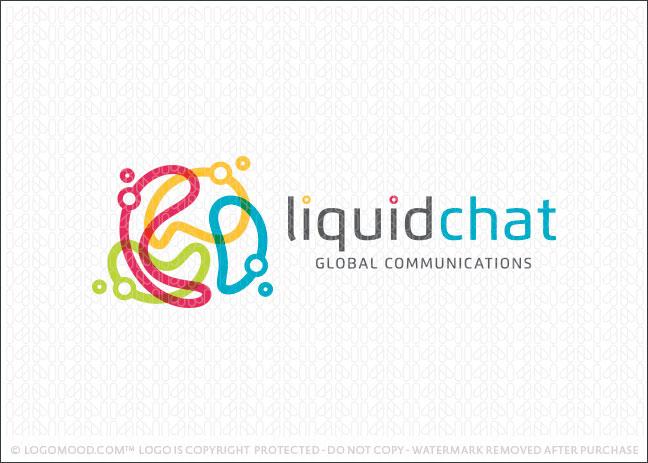 Liquid Chat Company Logo For Sale