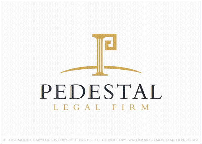 Pedestal Law Firm Logo For Sale