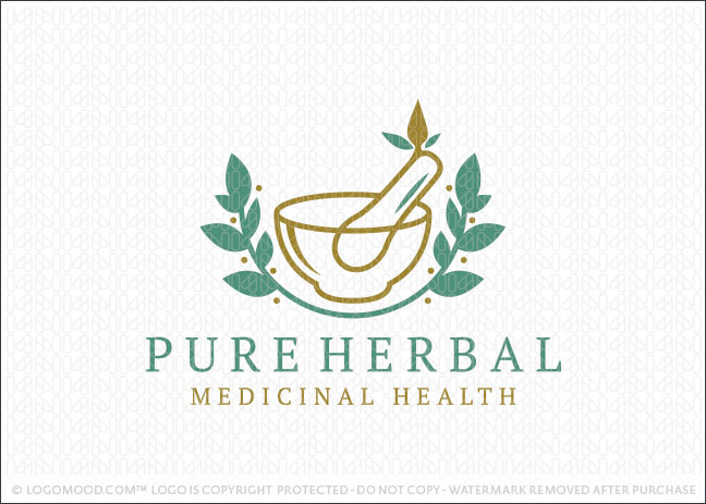 Herbal Medicine Company Logo For Sale