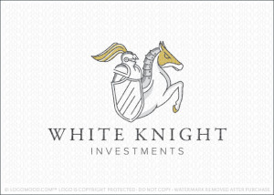 White Knight Business Logo For Sale