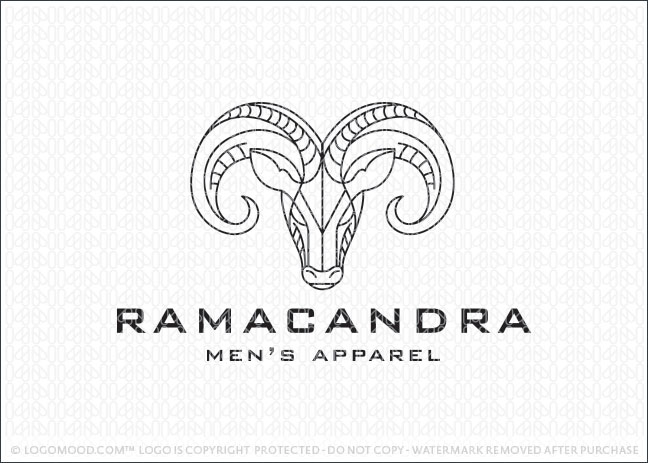 Ram Face Company Logo For Sale