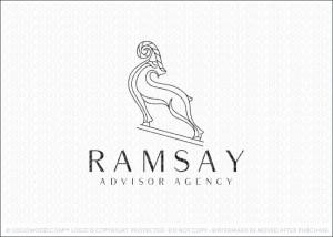 Ram Animal Business Logo For Sale