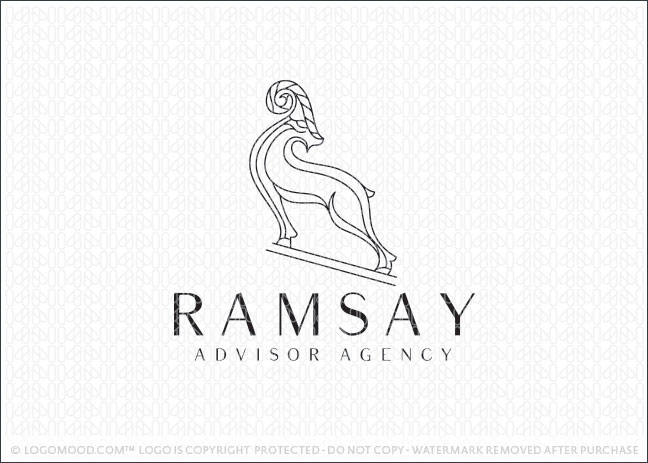 Ram Animal Business Logo For Sale