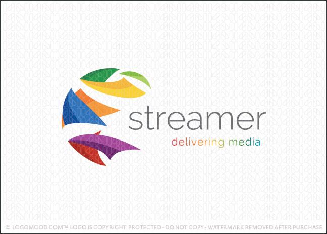 Streamer World Globe Company Logo For Sale