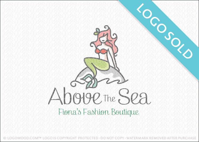 Beautiful Mermaid woman Company Logo Sold