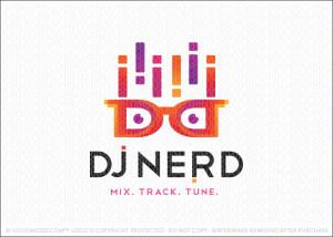 DJ Equalizer Nerd Logo For Sale