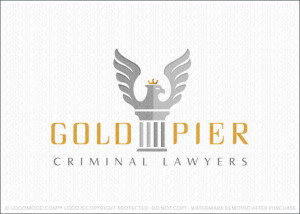 Eagle Column Law Firm Logo For Sale