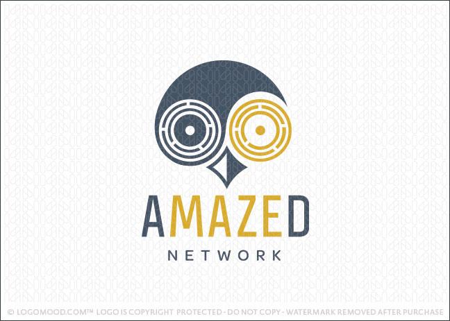 Owl Maze Company Logo For Sale