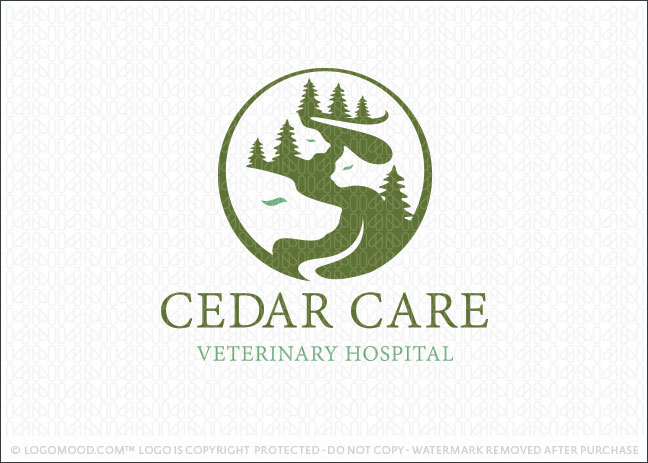 Cedar Creek Animal Care Logo For Sale