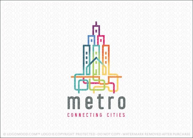 Metro City Subway Logo For Sale