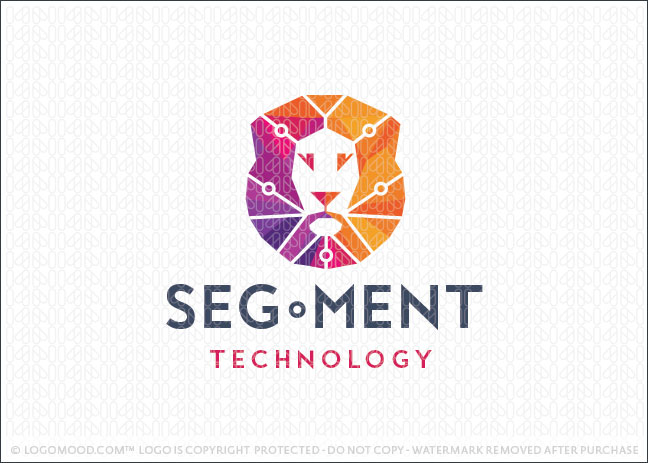 Lion Face Technology Company Logo For Sale
