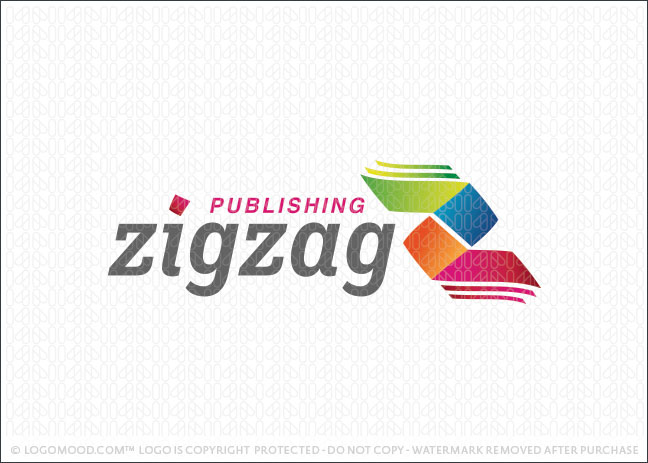 Zigzag Publishing Book Logo For Sale