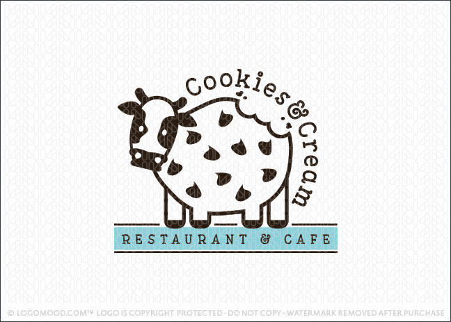 Readymade Logos For Sale Cookies Amp Cream Cafe Readymade