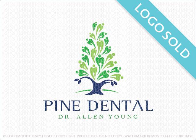 Pine Dental Tree Logo Sold