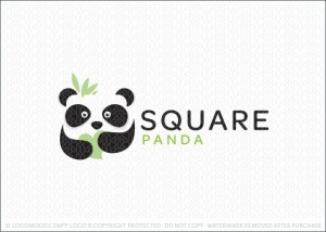 Cute Little Panda Baby Company Logo For Sale