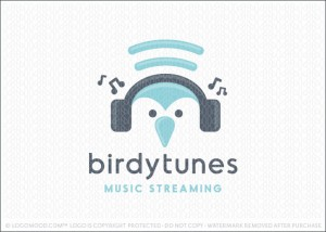 Bird Tunes Music Steaming Logo For Sale