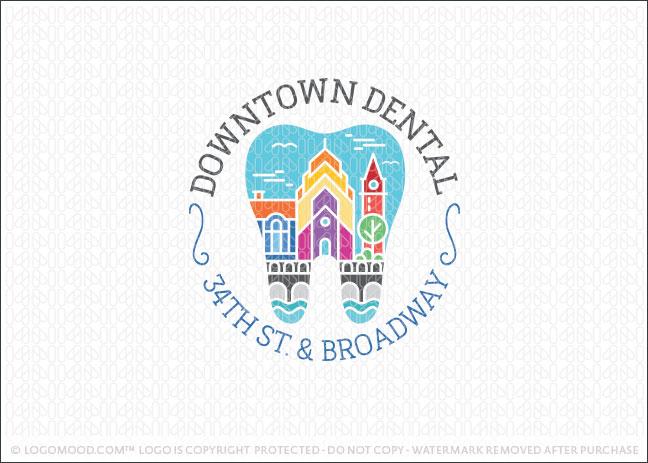 Downtown Cityscape Dental Logo For Sale