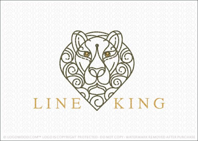 Lion Animal Elegant Logo For Sale