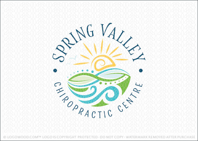 Spring Valley Chiropractic Company Logo For Sale