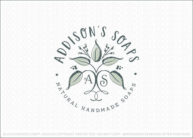 Organic Natural Soaps Logo For sale