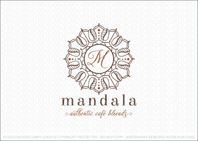 Mandala Coffee Cafe Logo For Sale