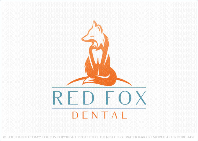 Red Fox Dental Logo For Sale