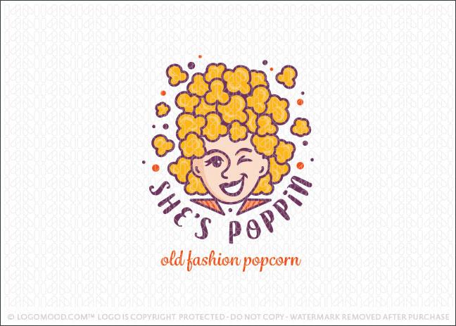 Vintage Popcorn Logo For Sale