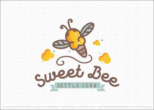 Sweet Honey Be Kettle Corn Popcorn Logo For Sale