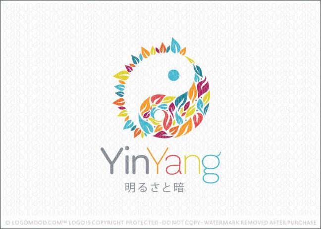Natural Organic Leaf Yin Yang Business Logo Design For Sale